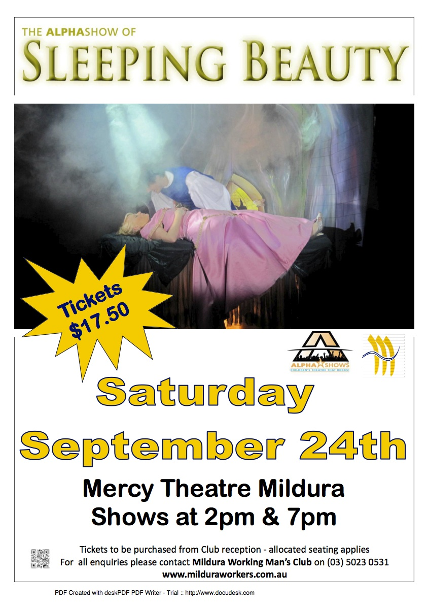 Sleeping Beauty Mildura Wokman's 2011 Poster