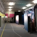 Yep, wondering how big our new set is? We used to do shows against that wall on the back, now not so much =D
