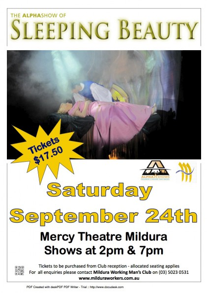 Sleeping Beauty Mildura Workmen's Club 2011 Poster
