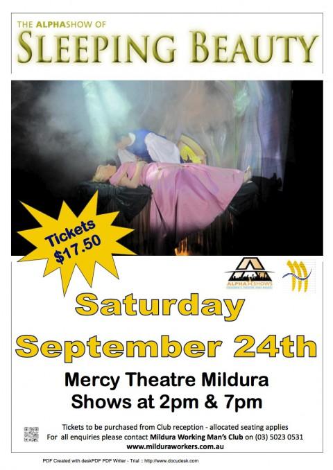 Mercy Theatre – Mildura Workman's Club – 24th September 2011