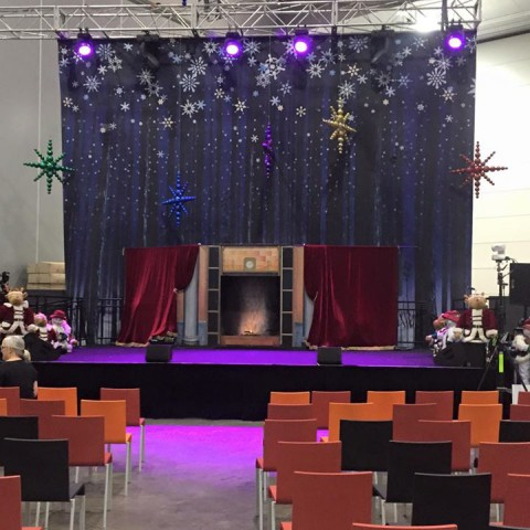 Our stage today at @varietyvic for the Variety Christmas Party on the main stage…