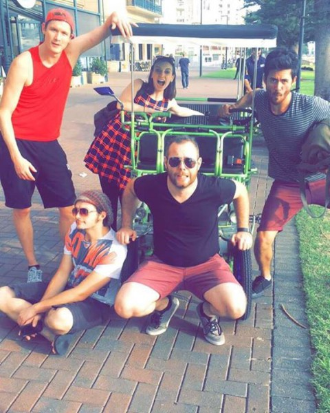Remember that time we found a Kevs Kool Wheels six person bike and rode it along…